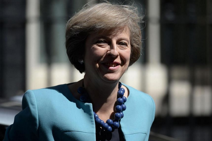 British Prime Minister Theresa May in central London on July 14.