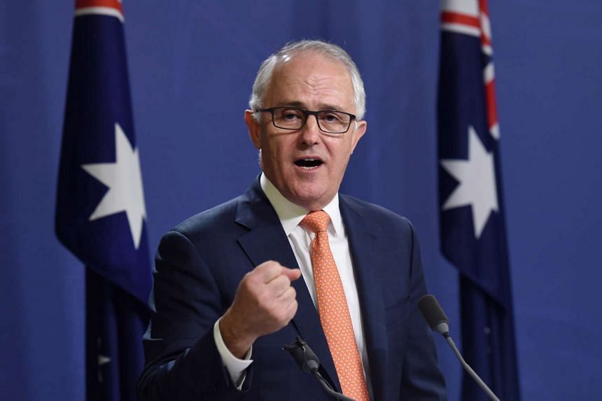 Australian Prime Minister Malcolm Turnbull (above) told his British counterpart Theresa May he would like to see the two countries strike a free trade deal as soon as possible following Brexit.