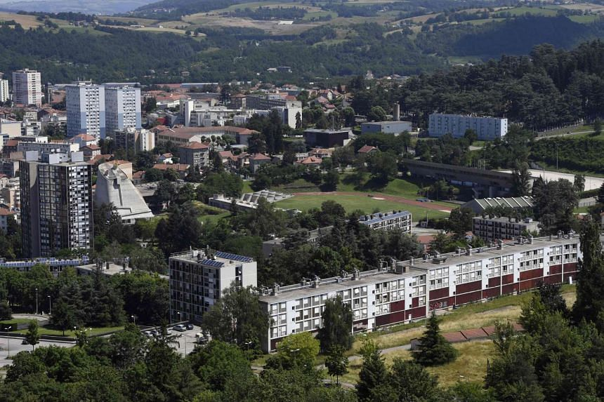 A general view of the architectural site created by French architect Le Corbusier, in Firminy, near Saint-Etienne.