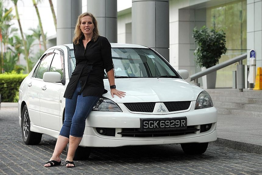 Uber mum, only Caucasian woman in Singapore fleet, driven to