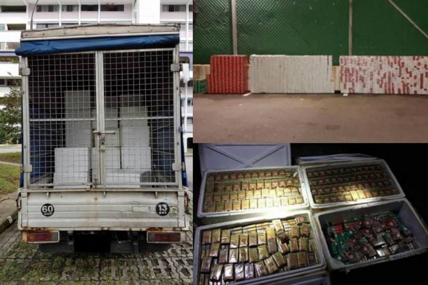 A lorry was found to contain nearly 16,000 packets of duty-unpaid cigarettes packed in styrofoam boxes, with a follow-up operation at fish farms yielding more cigarettes.