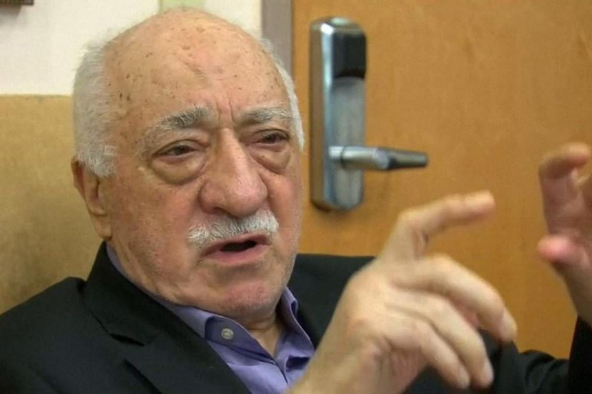 US-based cleric Fethullah Gulen, seen in this still image taken from a video, speaks to journalists at his home in Saylorsburg, Pennsylvania, July 16.