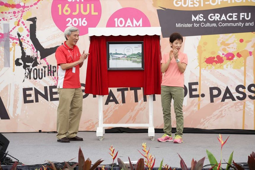 Guest of Honour Minister Grace Fu unveiled Singapore Discovery Centre's 20th anniversary logo on July 16, 2016.