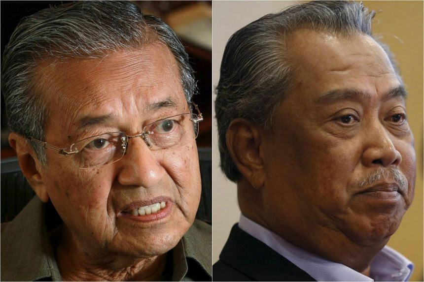 Former Malaysian PM Mahathir Mohammad (left) and ousted Malaysian Deputy Prime Minister, Muhyiddin Yassin.