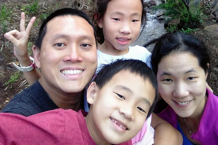 Freelance writer Adam Reutens-Tan with his wife Bee Kay, daughter Clare and son Cassian. He writes to the Forum page mainly about social and environmental issues.