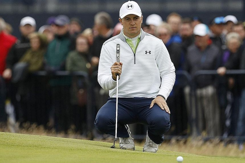 "Jordan Spieth was buoyed by his performance in the final round of the British Open. He said: ""I saw a couple of putts go in from outside six feet and made probably three or four of them from that range so my ball-striking's there."""