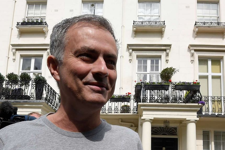 Jose Mourinho outside his house in London, Britain, May 27, 2016.