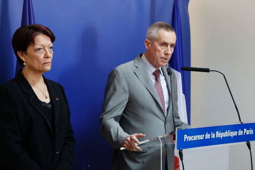 Francois Molins (right) flanked by Interpol president Mireille Ballestrazzi at the July 18, 2016, press conference.