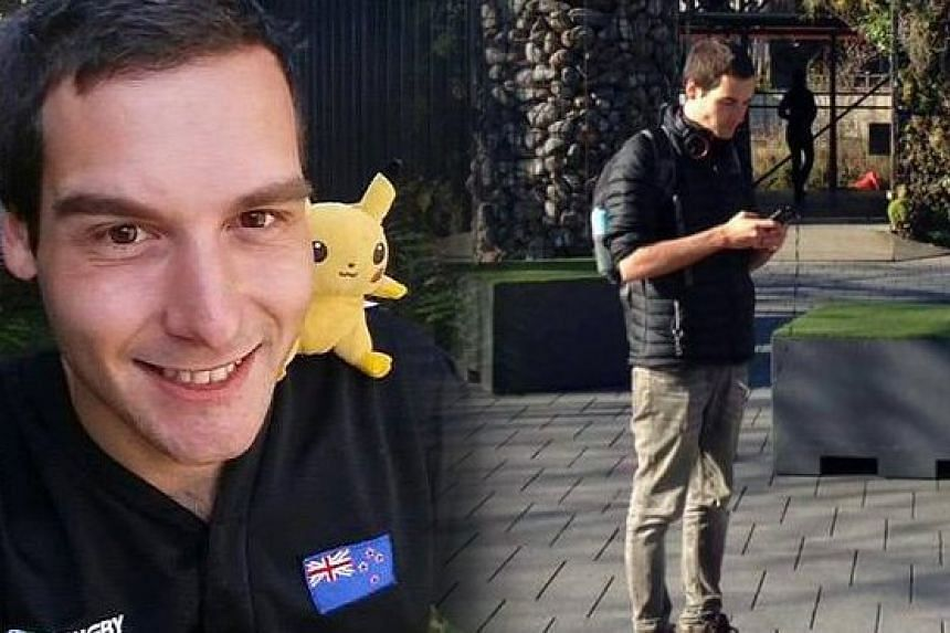 Mr Tom Currie, 24, quit as a barista and bartender at a seaside restaurant near Auckland to focus on a two-month country-wide tour hunting for digital monsters on his mobile phone.