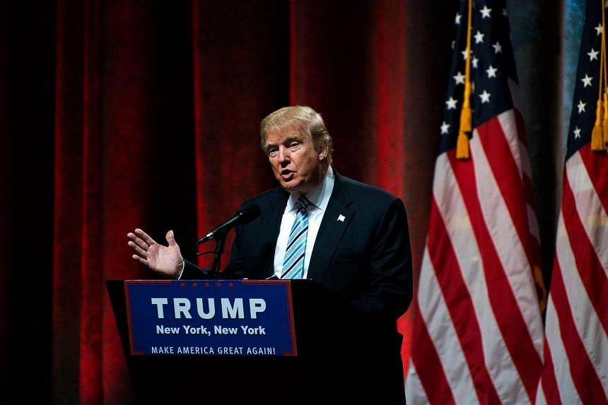 Republican presidential candidate Donald Trump speaking at the New York Hilton Midtown on July 16 in New York City.