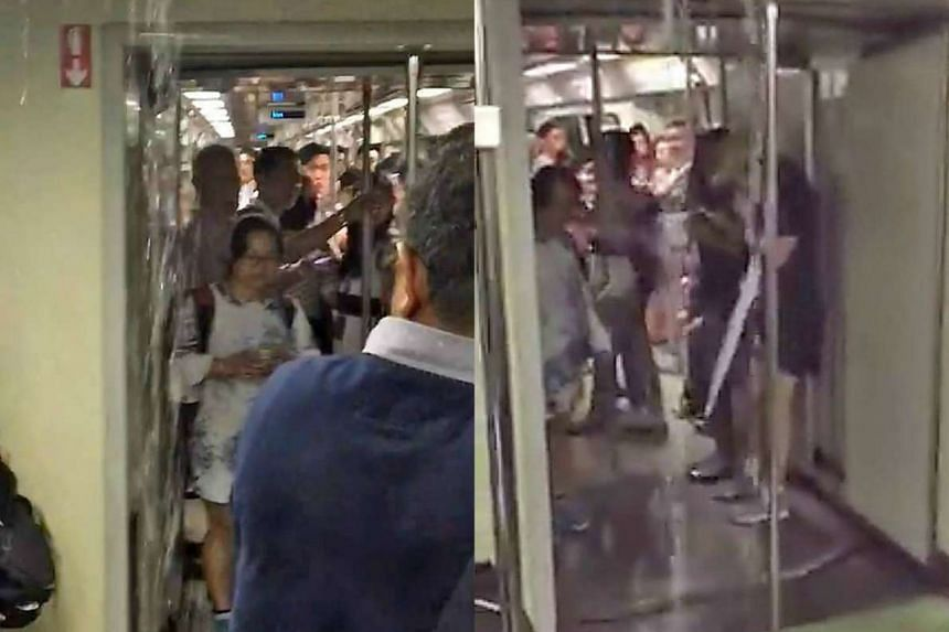 A commuter travelling from Clementi to Outram Park posted a video online, saying that water was pouring from the roof of the train.