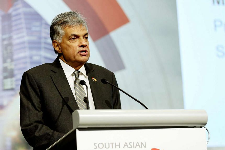 PM of Sri Lanka Mr Ranil Wickremesinghe delivering a keynote address at the South Asian Diaspora Convention.