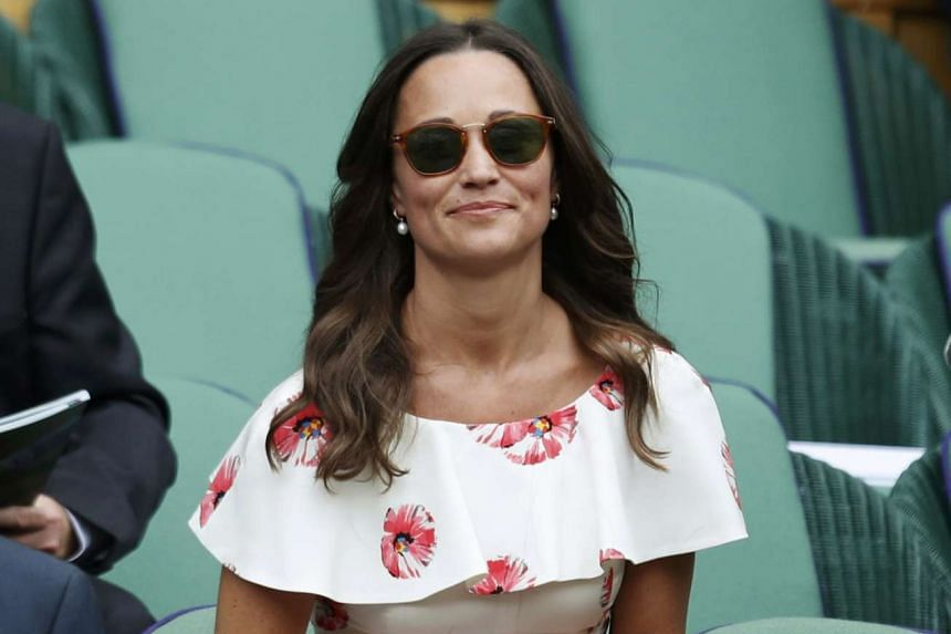 Ms Pippa Middleton at the Wimbledon tennis tournament in England on June 27, 2016.