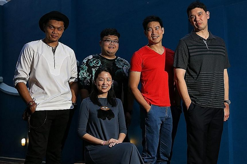 Joining this year's Boiler Room programme are (seated) Zee Wong, (standing, from left) Al-Matin Yatim, Isaac Lim, Timothy Nga and Christian W. Huber.