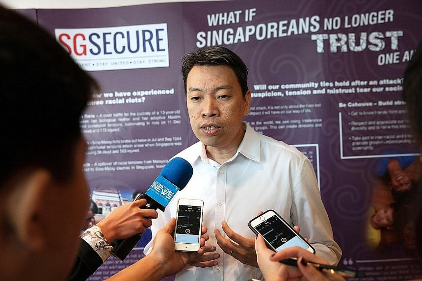 """Mr Yong said increased vigilance is especially necessary in the wake of recent terror events. He added: """"We need our community to do its part in keeping Singapore safe, for it is not a matter of 'if' a terror attack will happen here, but a matter of"""