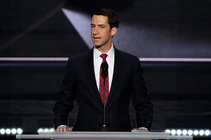 Tom Cotton delivers a speech at the Republican National Convention on July 18 at the Quicken Loans Arena in Cleveland, Ohio.