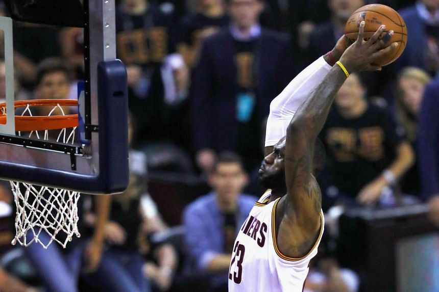 The Cleveland Cavaliers' LeBron James goes up for a dunk against the Golden State Warriors in Game 6 of the 2016 NBA Finals.