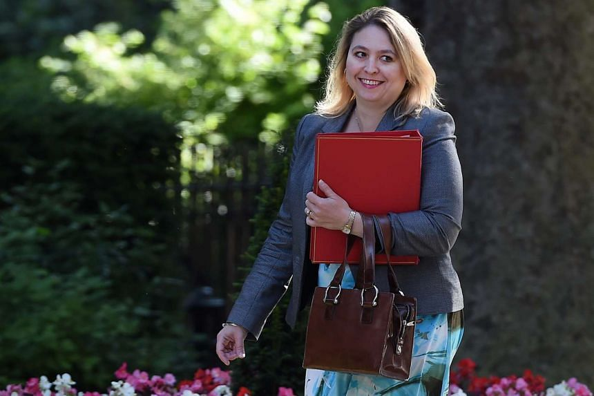 British Secretary of State for Culture, Media and Sport Karen Bradley arrives for a Cabinet meeting at 10 Downing Street in London, on July 19, 2016.