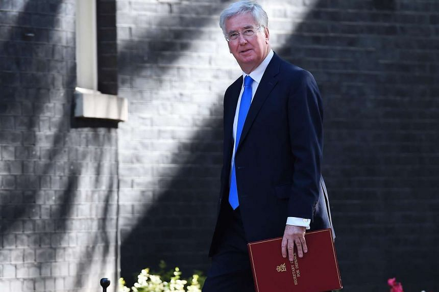 British Secretary of State for Defence Michael Fallon arriving at 10 Downing Street for a Cabinet meeting on July 19, 2016.