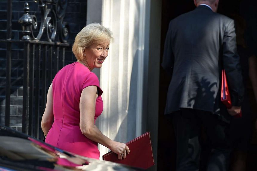 Secretary of State for Environment, Food and Rural Affairs Andrea Leadsom arriving at 10 Downing Street for new PM Theresa May's first Cabinet meeting, on July 19, 2016.