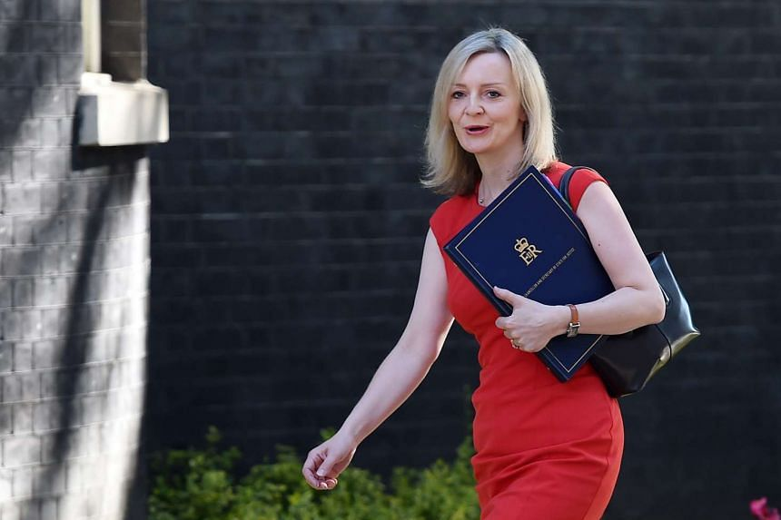 British Lord Chancellor and Secretary of State for Justice Elizabeth Truss arriving for a Cabinet meeting at 10 Downing Street on July 19, 2016.