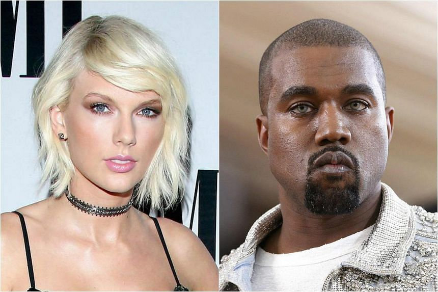 Taylor Swift (left) and Kanye West.