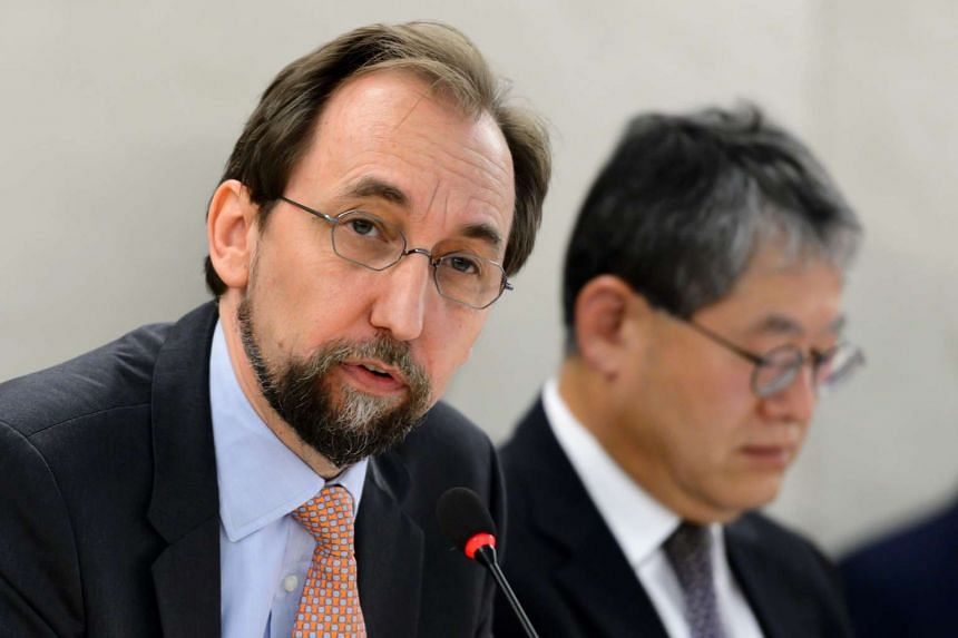 United Nations High Commissioner for Human Rights Zeid Ra'ad Al Hussein at the opening of a new Council's session on June 13, 2016, in Geneva.