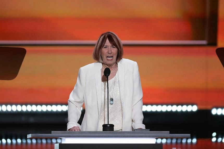Ms Pat Smith, mother of Benghazi victim Sean Smith, speaks during the Republican National Convention in Cleveland on July 18.