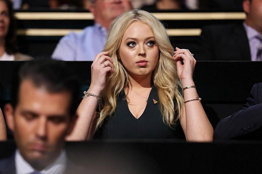 Tiffany Trump listens to a speech on the first day of the Republican National Convention on July 18 at the Quicken Loans Arena in Cleveland, Ohio.