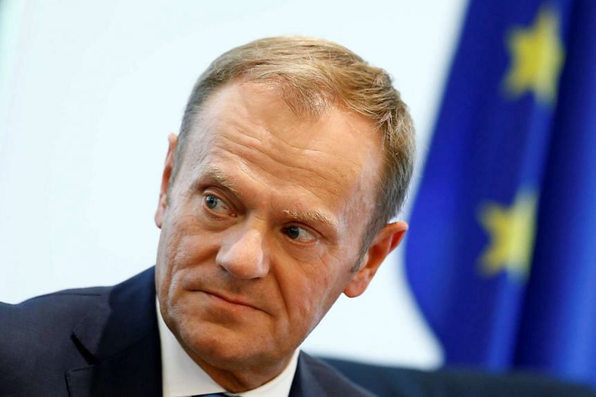 """EU chief Donald Tusk told Britain's new Prime Minister Theresa May they should work towards a """"velvet divorce""""."""