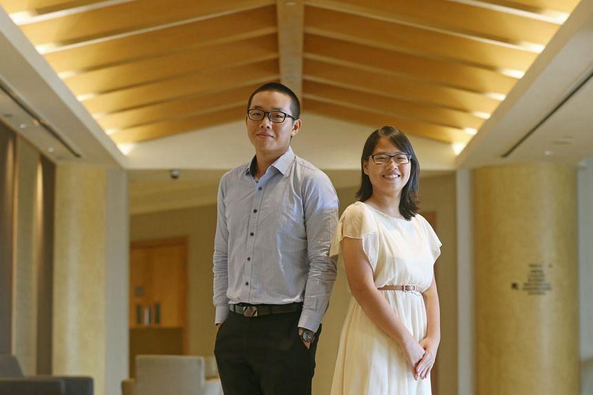 PSC scholarship recipients Tan Jing Yu William and Quek Xiao Tong.