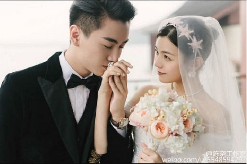 Michelle Chen and Chen Xiao were married on Tuesday (July 19) at the Yanqi Hotel on the Yanqi Lake, outside Beijing's city centre.