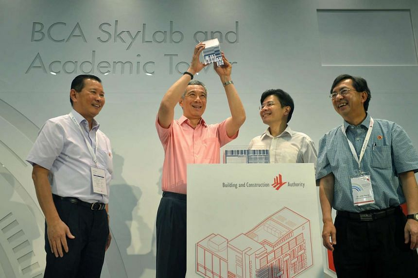 Prime Minister Lee Hsieng Loong at the launch of the new BCA SkyLab on July 20.