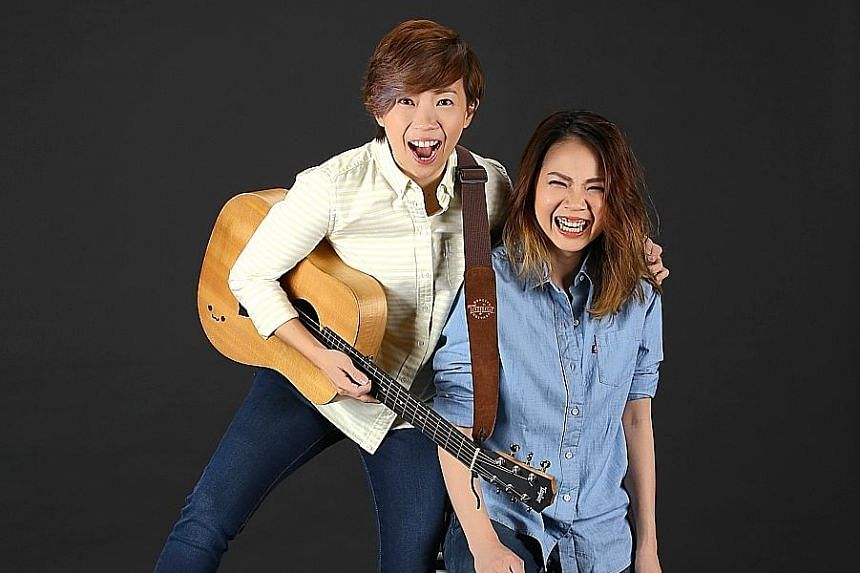 The Freshman, comprising Chen Diya (left) and Carrie Yeo, are behind the theme song for The Provision Shop.
