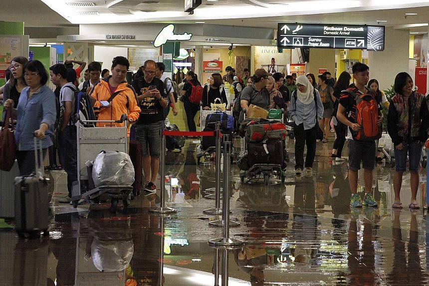 Penang International Airport and other areas were flooded by heavy rain yesterday. Water levels in the airport's arrival hall reached 0.3m at 5pm before subsiding about an hour later. Other areas affected included Permatang Datang Laut, Teluk Bahang