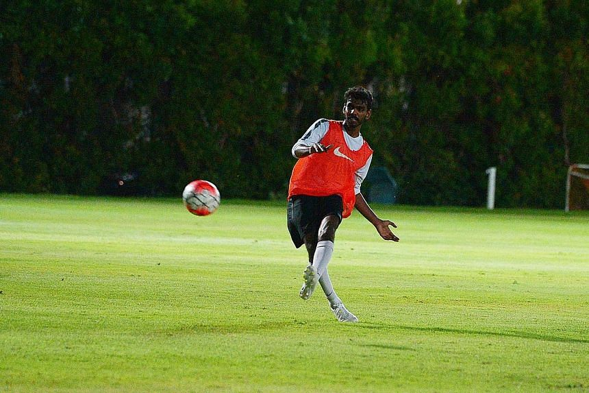 Dhukilan Jeevamani in training. National youth teams head coach Richard Tardy says rejuvenation and renewal of teams across age groups is the norm in football.