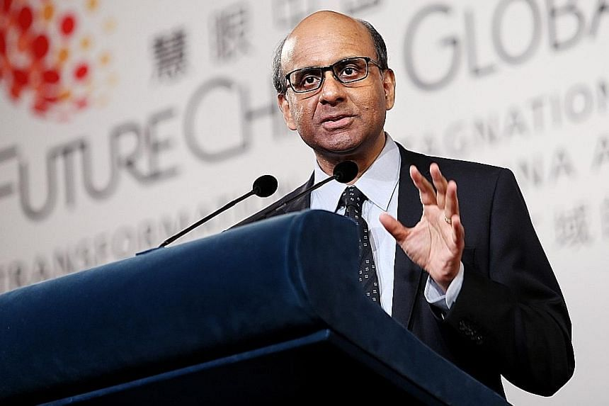 Deputy Prime Minister Tharman Shanmugaratnam said at the FutureChina Global Forum that productivity growth was key for China.