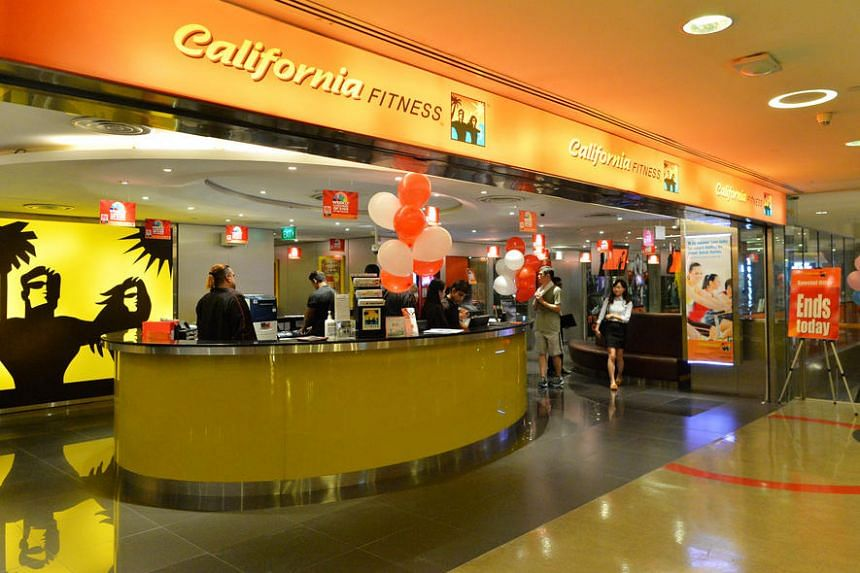 The facade of fitness club California Fitness branch in Novena Square, taken two years ago.