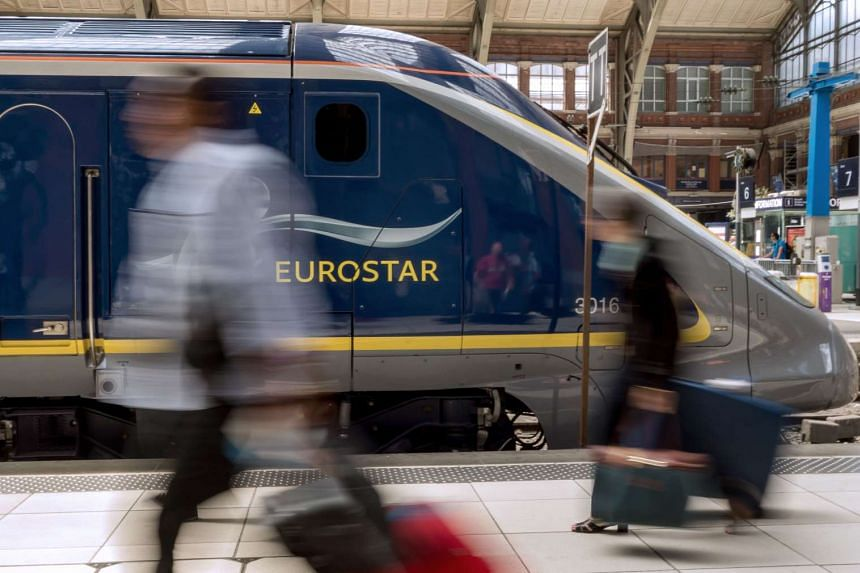 A Eurostar train at Lille's train station, northern France, in 2014.