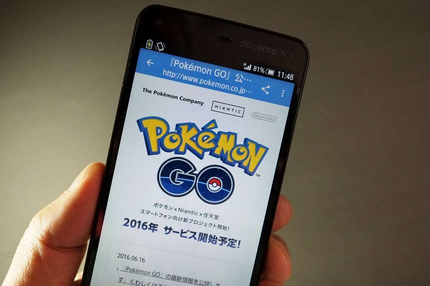 Pokemon's official Japanese site announcing the latest information for Pokémon Go.