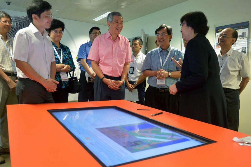 PM Lee at the launch of the new BCA facilities.