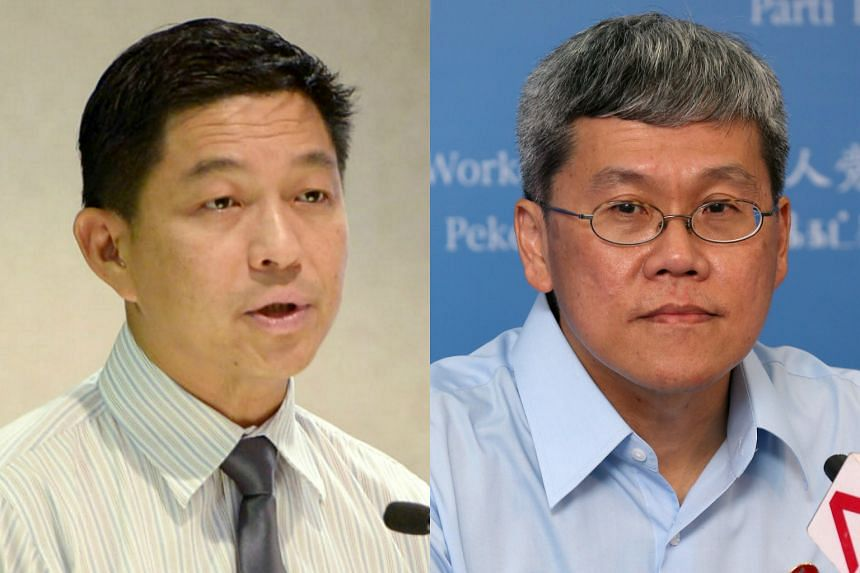 A combination of photo of MP Tan Chuan-jin (left) and Workers' Party MP Png Eng Huat (right).