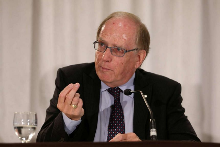 Richard McLaren, who was appointed by the World Anti-Doping Agency (WADA) to head an independent investigative team, presents his report in Toronto, Ontario, Canada on July 18.
