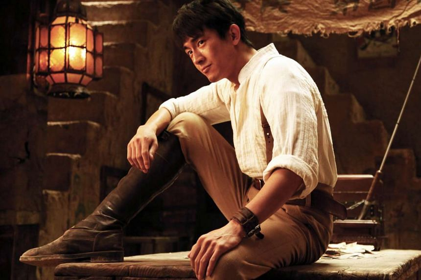 Kenny Lin Gengxin (above) shines in For A Few Bullets as a rakish con man.