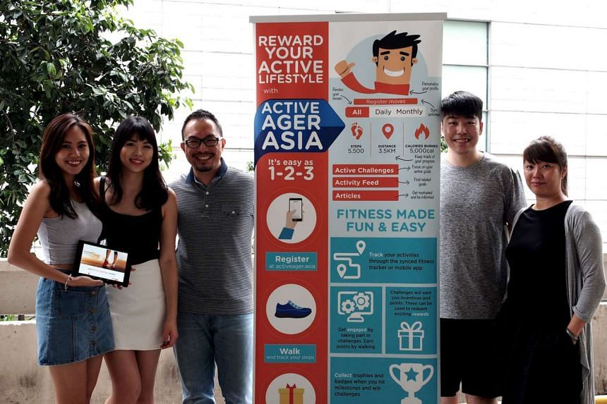 The Active Ager Asia team, with founder and managing director Aaron Kong (third from left).