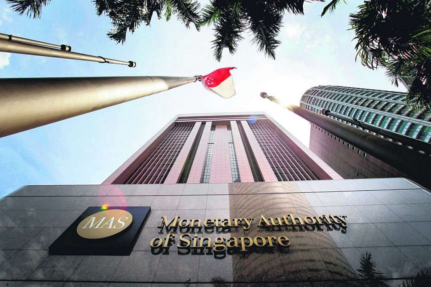 The Monetary Authority of Singapore at 10 Shenton Way.