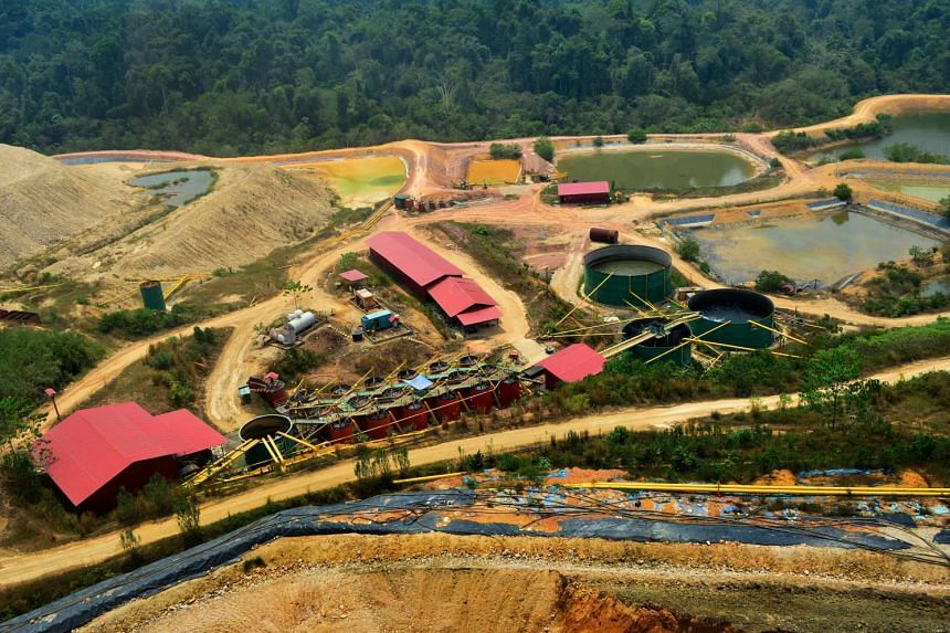 An aerial view of one part of the CNMC goldmine in Kelantan.