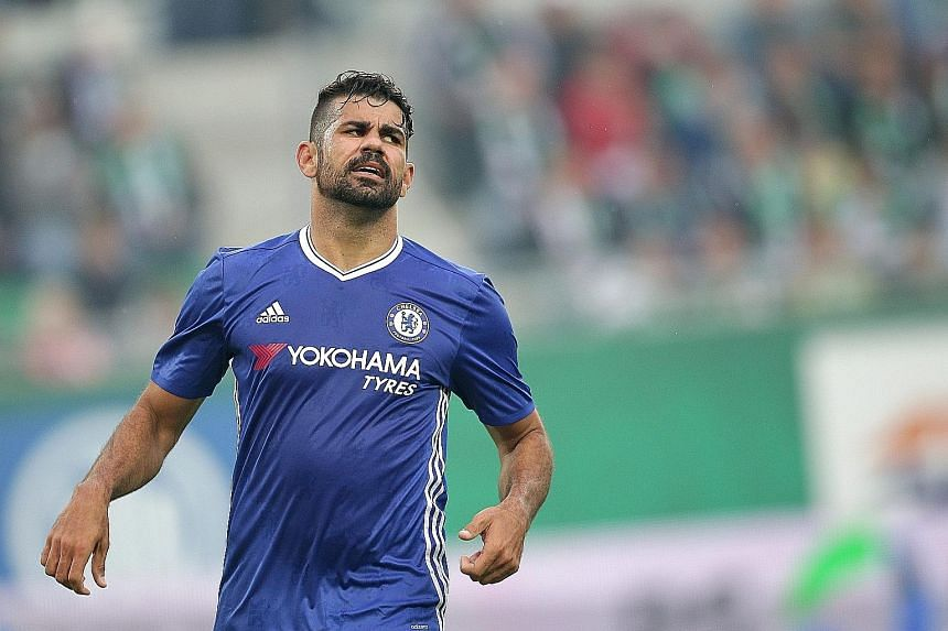 """Antonio Conte has insisted that Diego Costa (left) is not for sale and that he is a """"player of fundamental importance""""."""