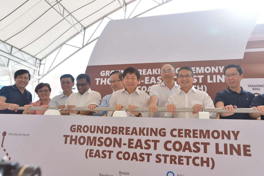 Transport Minister Khaw Boon Wan at the groundbreaking ceremony for the East Coast stretch of the Thomson-East Coast Line on Thursday (July 21).