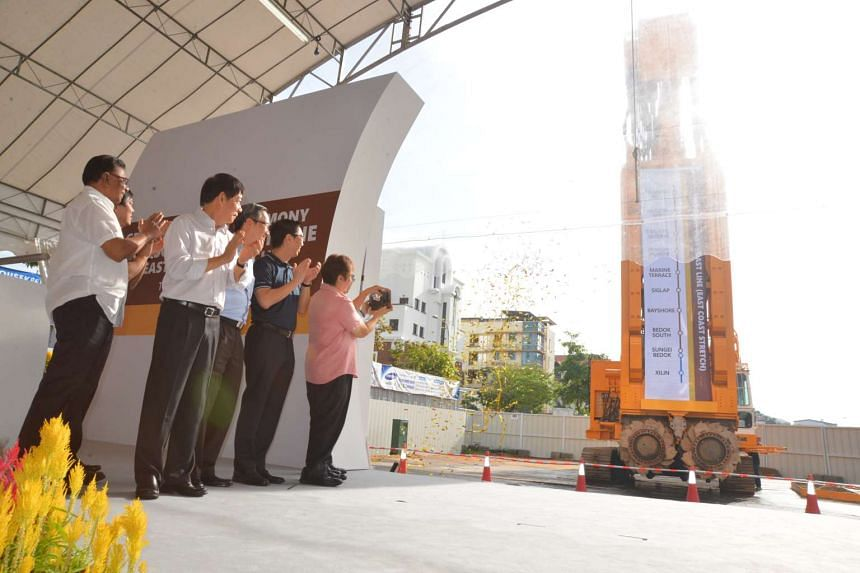 The groundbreaking, held at the Marine Parade project site, also marked the start of work for two other projects.